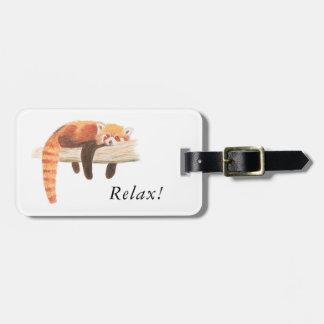 Etiqueta del equipaje de la panda roja