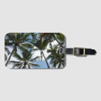 Etiqueta del equipaje de la playa de las palmeras