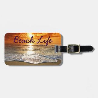 Etiqueta del equipaje de la vida de la playa