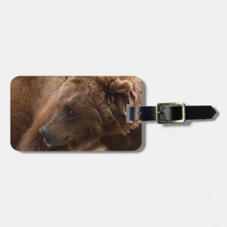 Etiqueta del equipaje de los osos grizzly