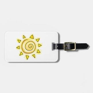Etiqueta del equipaje de Sun del verano