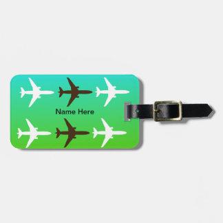 Etiqueta del equipaje del aeroplano etiquetas para equipaje