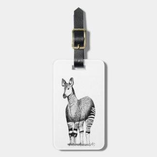Etiqueta del equipaje del arte del Okapi