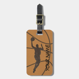 Etiqueta del equipaje del baloncesto