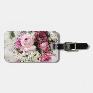 Etiqueta del equipaje del boda con la correa de