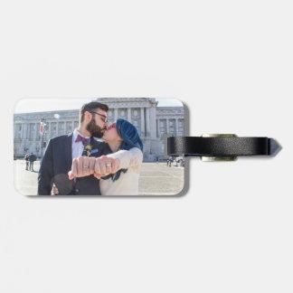 Etiqueta del equipaje del boda de Katrina y de