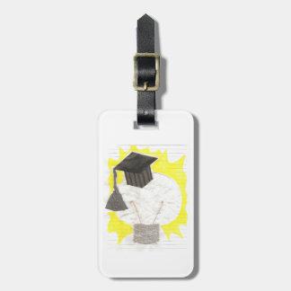 Etiqueta del equipaje del bulbo del graduado