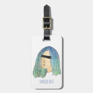 Etiqueta del equipaje del chica de la galaxia