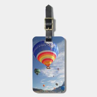 etiqueta del equipaje del globo del aire caliente