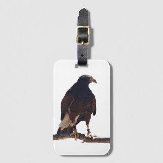 Etiqueta del equipaje del halcón de Harris