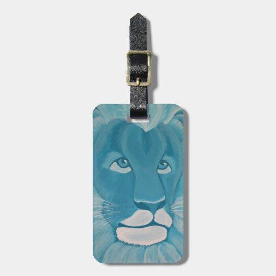 Etiqueta del equipaje del león de la turquesa