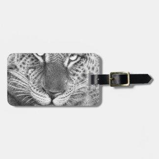 Etiqueta del equipaje del leopardo