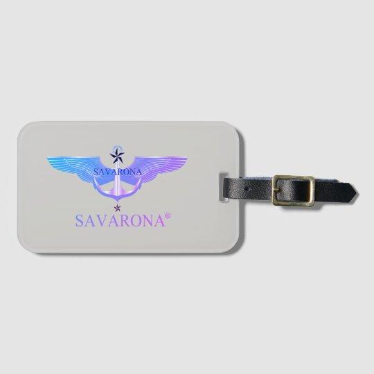 Etiqueta del equipaje del logotipo de Savarona