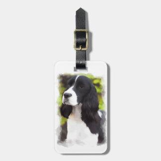 Etiqueta del equipaje del perrito del perro del