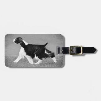Etiqueta del equipaje del perro del perro de aguas