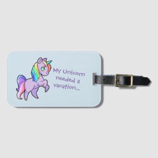 Etiqueta del equipaje del unicornio
