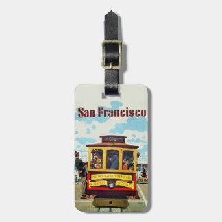 Etiqueta del equipaje del viaje del vintage de San