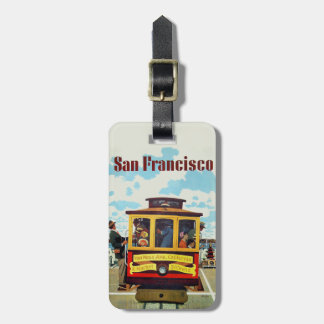 Etiqueta del equipaje del viaje del vintage de San Etiquetas De Maletas