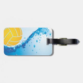 Etiqueta del equipaje del water polo