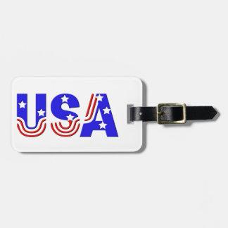 Etiqueta del equipaje - los E.E.U.U. en estrellas