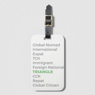 Etiqueta del equipaje que necesita etiquetas