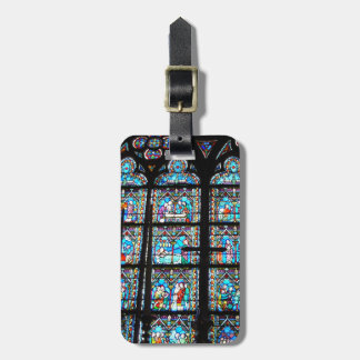 Etiqueta del equipaje--Vitral en Notre Dame