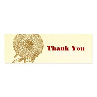 Etiqueta del favor del boda de la flor del vintage plantilla de tarjeta de visita