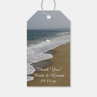Etiqueta del favor del boda de playa