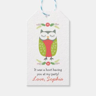 Etiqueta del favor del búho de la primavera etiquetas para regalos
