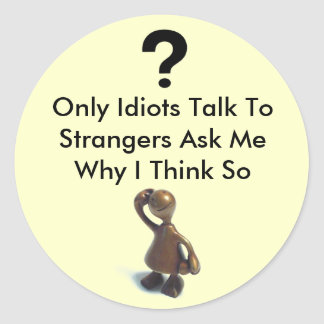 Etiqueta del idiota