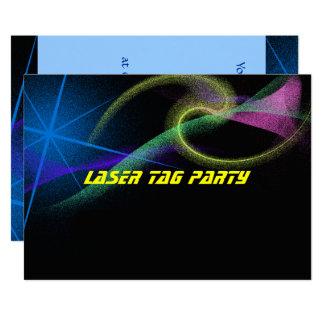 Etiqueta del laser, colorida, invitación de la