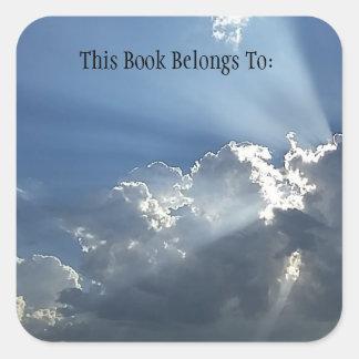 Etiqueta del libro de la alba (cuadrado)