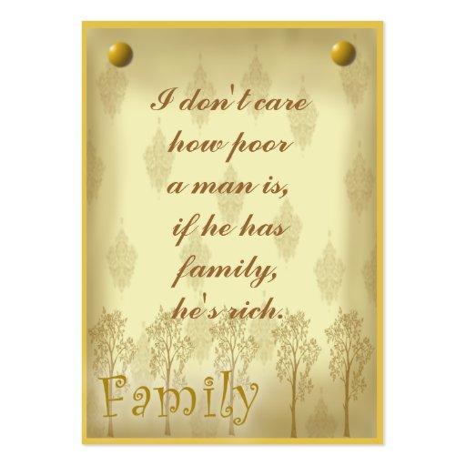 Etiqueta del libro de recuerdos de la familia o ta plantillas de tarjetas de visita