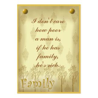 Etiqueta del libro de recuerdos de la familia o ta tarjetas de visita grandes