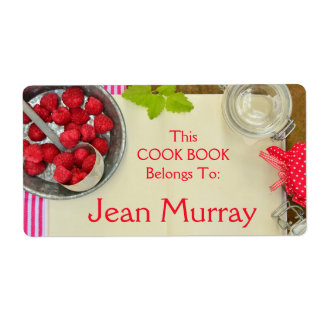Etiqueta del libro del cocinero de la fresa etiquetas de envío
