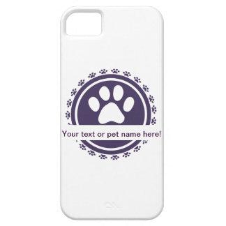 etiqueta del mascota iPhone 5 Case-Mate cobertura