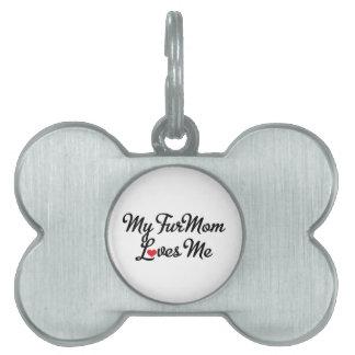 Etiqueta del mascota placa de nombre de mascota