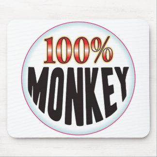 Etiqueta del mono tapetes de raton