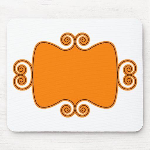 Etiqueta del monograma alfombrillas de raton
