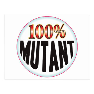 Etiqueta del mutante tarjeta postal
