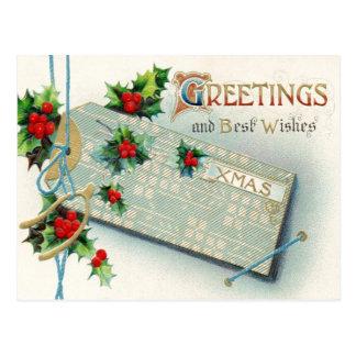 Etiqueta del navidad postal
