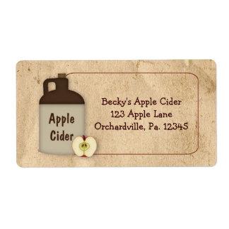 Etiqueta del negocio de la sidra de Apple Etiqueta De Envío