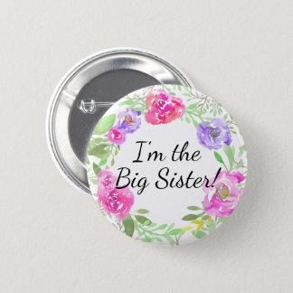 Etiqueta del nombre de la hermana de la fiesta de chapa redonda de 5 cm