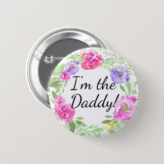 Etiqueta del nombre del papá del papá de la fiesta chapa redonda de 5 cm