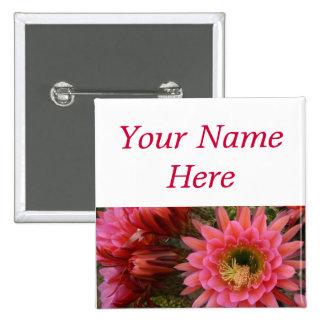 Etiqueta del nombre del perno-detrás de la flor de chapa cuadrada