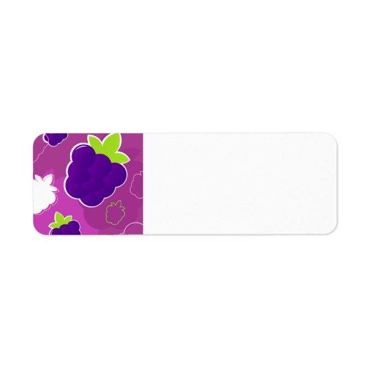 Etiqueta del papel de los diseñadores: con las etiqueta de remite
