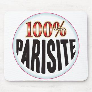 Etiqueta del parásito alfombrilla de raton