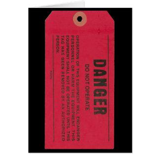 Etiqueta del peligro felicitacion