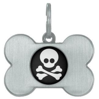 Etiqueta del perro y del gato del pirata placa para mascotas