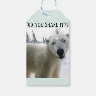 Etiqueta del presente del oso polar